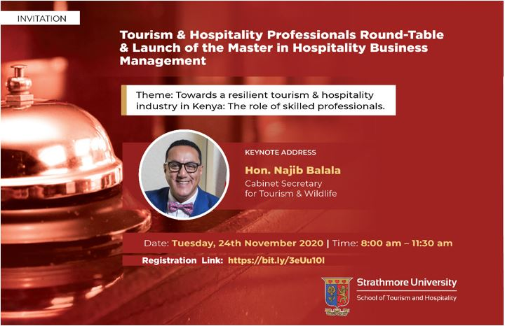 Tourism and Hospitality professionals' roundtable – by Strathmore University
