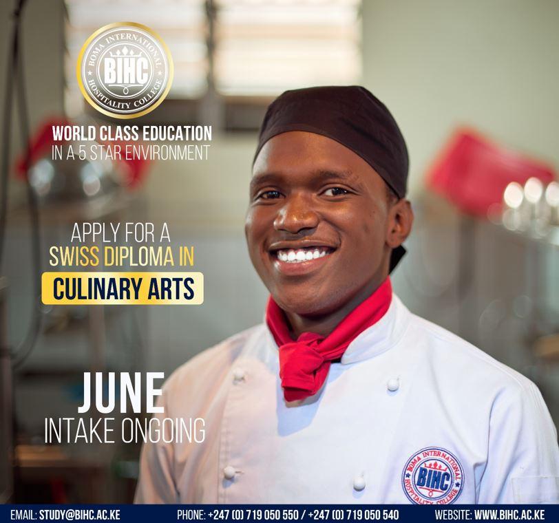 BIHC Swiss Diploma Culinary Arts Kenya