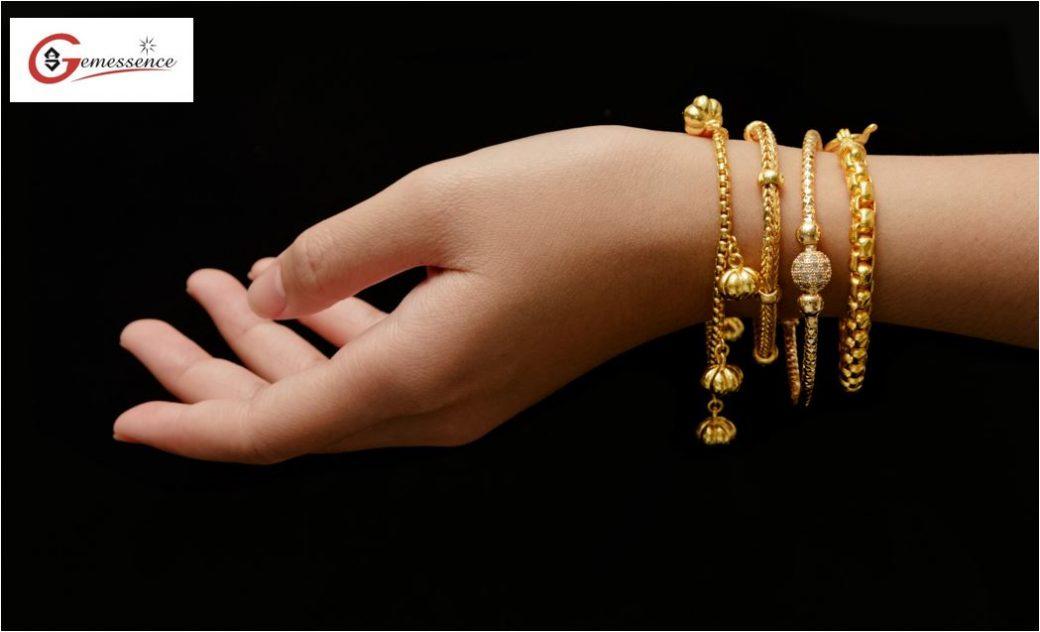 Gold Bracelets and Anklets