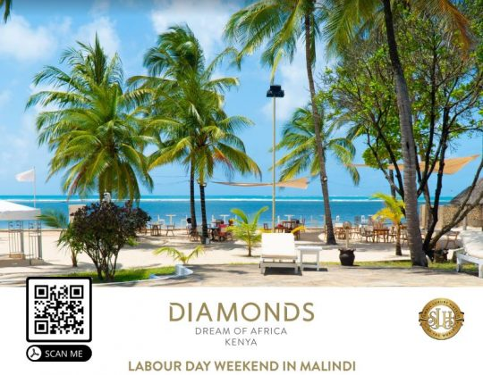 Malindi Labour Day Weekend at Diamonds Dream of Africa
