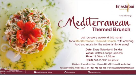 Enashipai Mediterranean Themed Brunch Every Weekend This April