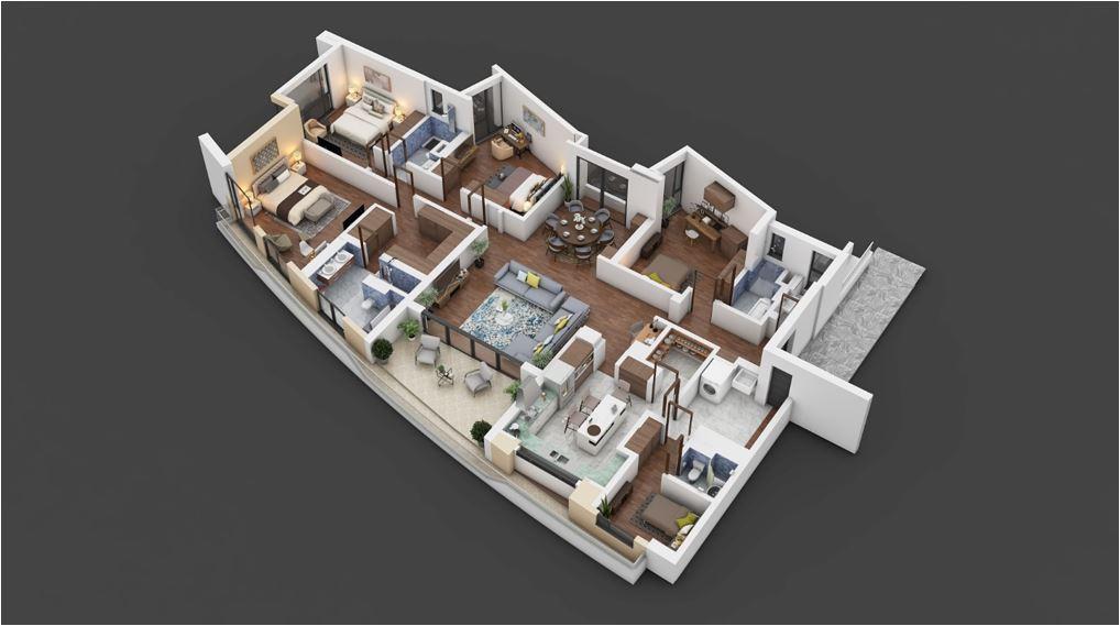 Le Vert 4 Bedroom Apartment Floor Plan