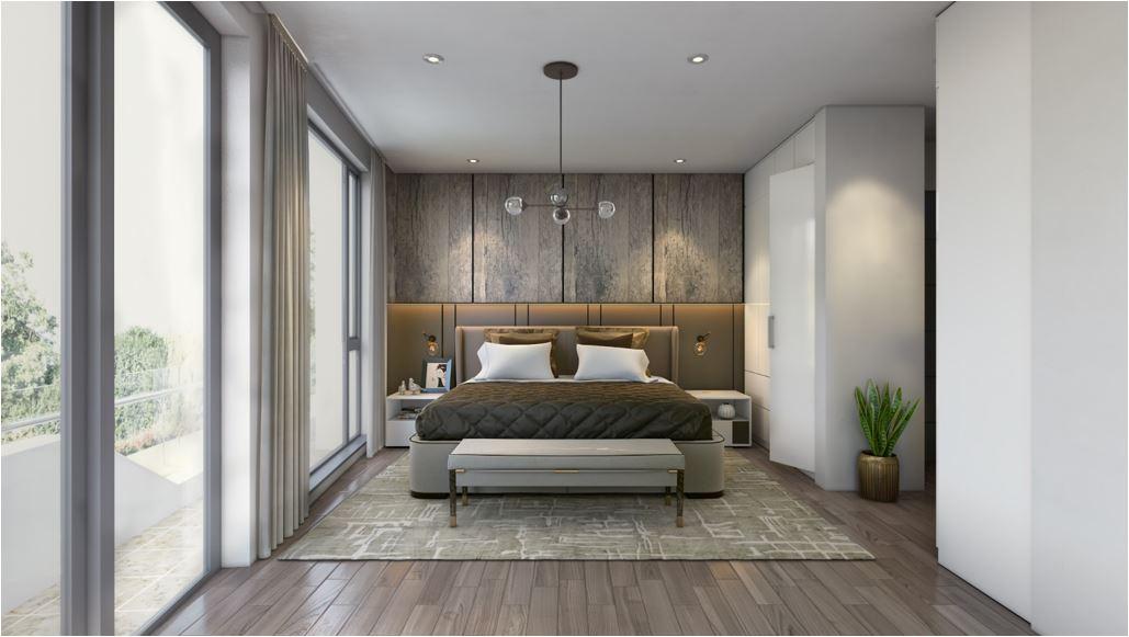 Le vert master bedroom