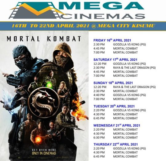 Mega Cinema Kisumu Lineup Week 15
