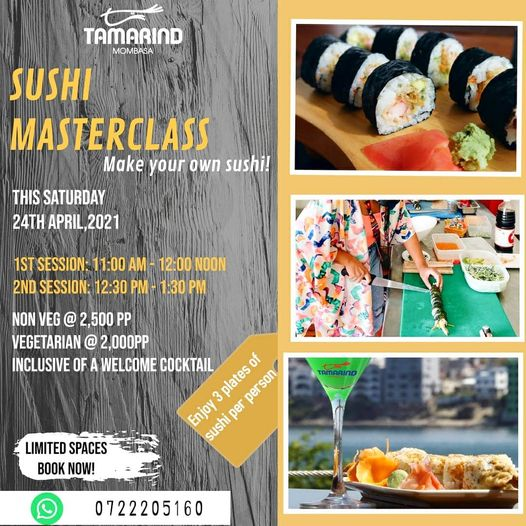 Tamarind Mombasa Sushi Masterclass