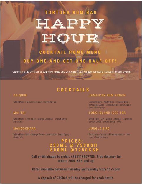 Tortuga Rum Bar Happy Hour