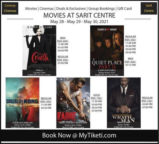 Century Cinemax Sarit Centre Week 21 Lineup