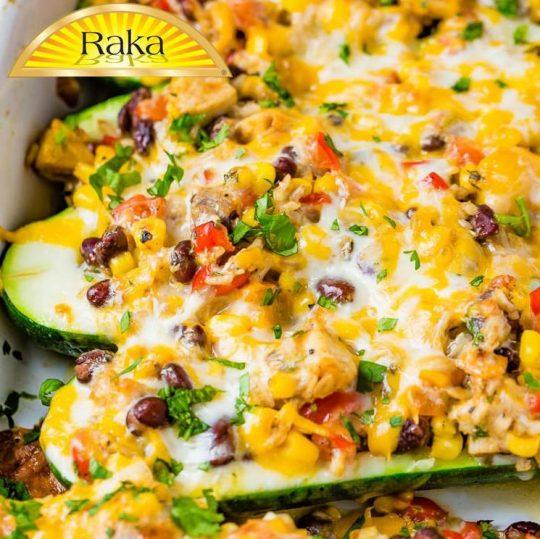 Cheesy Healthy Mexican Zucchini Boats Recipe - Raka Cheese