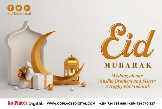 Eid Mubarak to Our Muslim Brothers & Sisters from Go Places Digital
