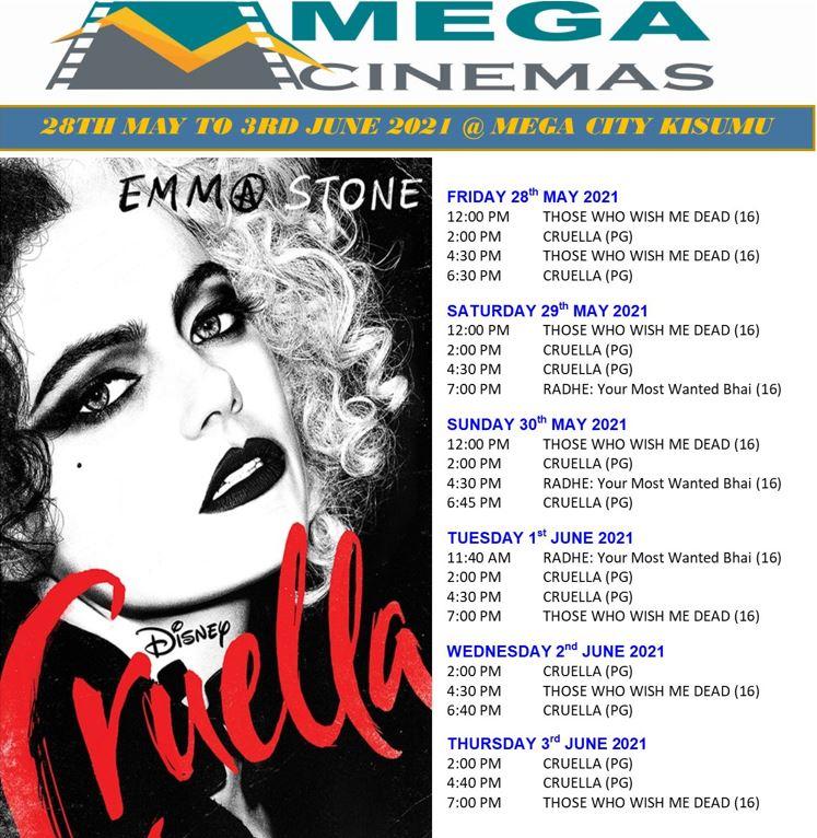 Mega Cinema Kisumu Week 21 Lineup