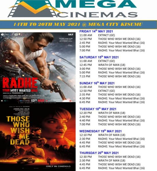 Mega Cinema Kisumu Week 19 Lineup - New Release Those Who Wish Me Dead
