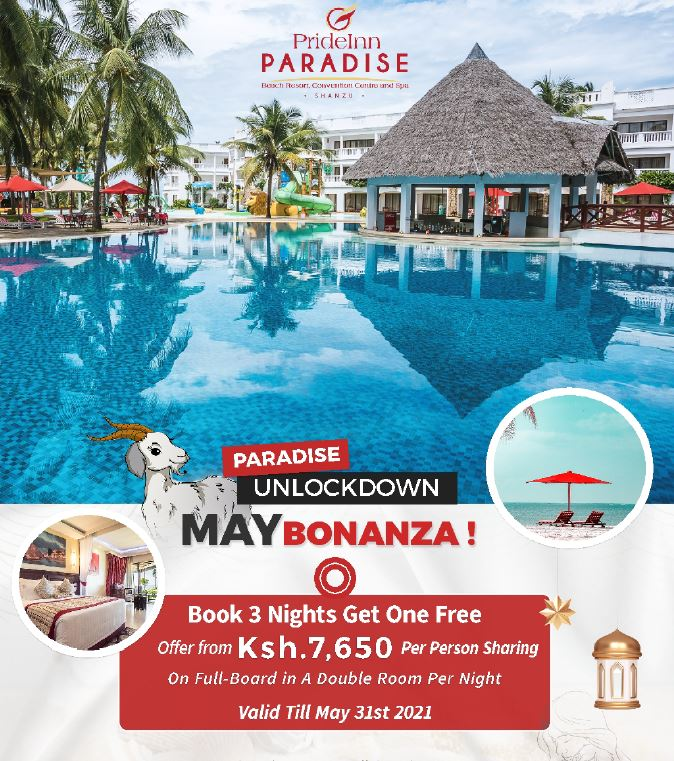 Prideinn Paradise Mombasa May Offer