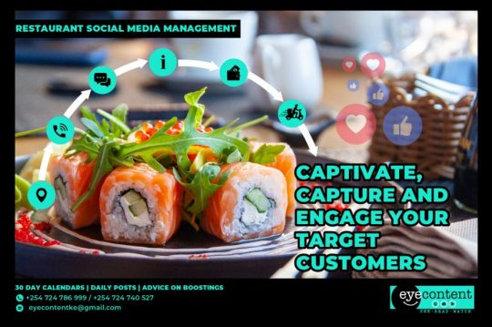 Restaurant Social Media Management - EyeContentKE - The New Normal