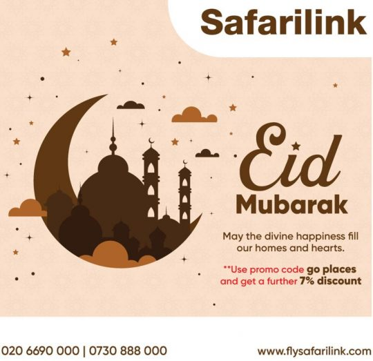 Eid Mubarak from Safarilink Avaition