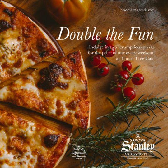 Enjoy 2 Pizzas For The Price Of 1 At Sarova Stanley
