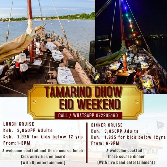 Tamarind Dhow Eid Weekend Cruise Offers