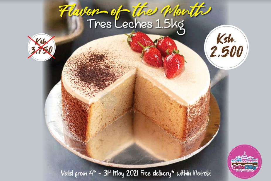 tres leches cake offer at cake city
