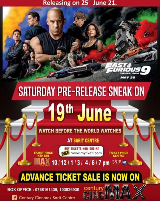 Century Cinemax Sarit Centre Movie Line Up Week 22