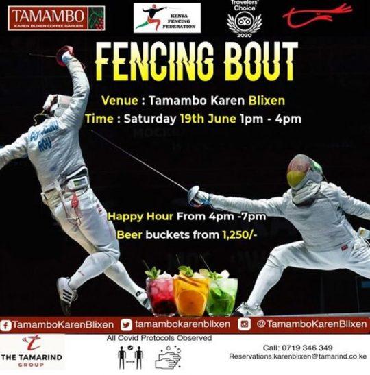 Fencing Bout at Tamambo Karen Blixen This Saturday