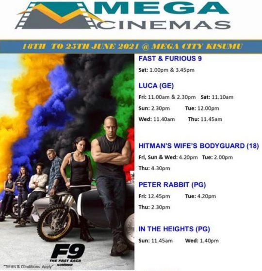 Mega Cinema Kisumu Week 24 Lineup