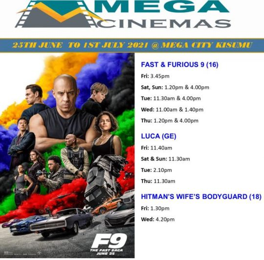 Mega Cinema Kisumu Week 25 Lineup