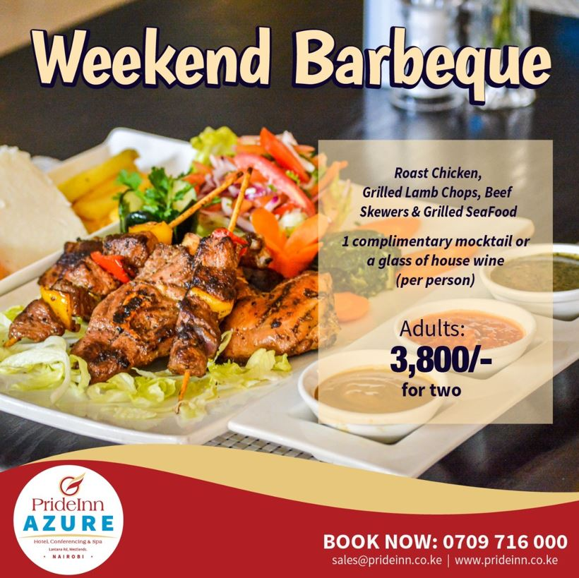Weekend Barbeque Offer at the Prideinn Azure
