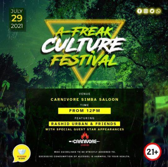 A-Freak Culture Festival Nairobi - 29th July 2021