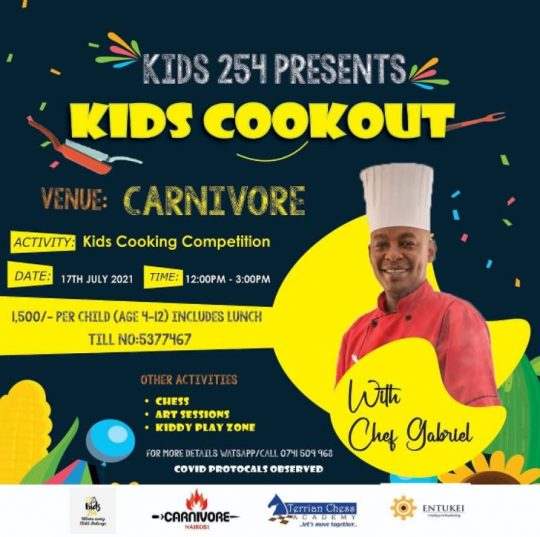 Carnivore Kids Cookout This Saturday 15th July 2021
