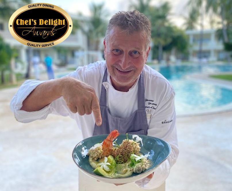 Crunchy Jumbo Prawns Recipe by Planhotel Executive Chef Giacomo Gaspari a