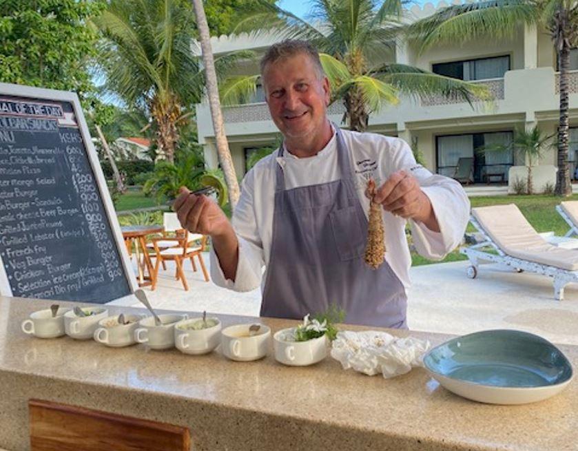Chefs Delight Crunchy Jumbo Prawns Recipe by Planhotel Executive Chef Giacomo Gaspari