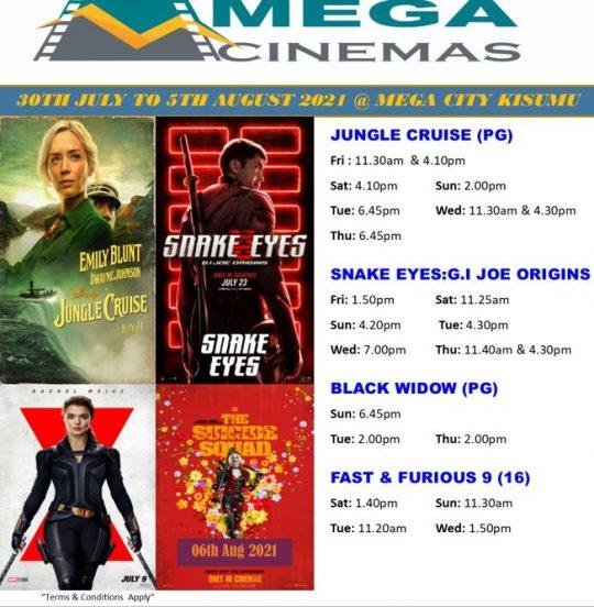 Mega Cinema Kisumu Week 30 Lineup