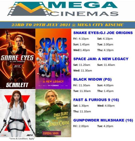 Mega Cinema Kisumu Week 29 Lineup