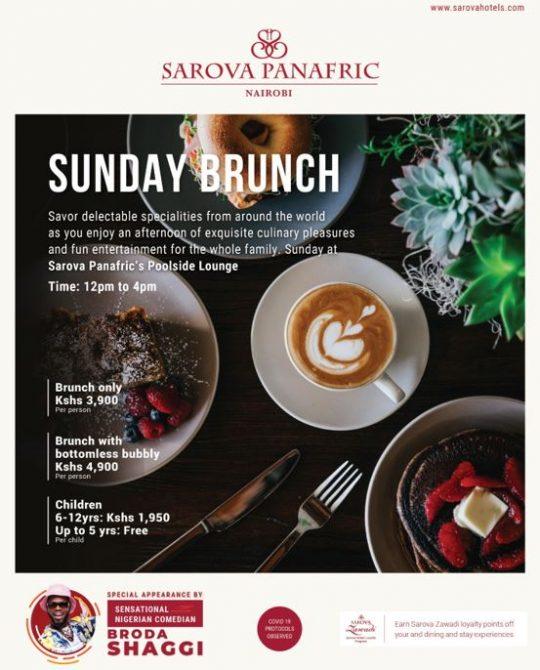 Enjoy Sunday Brunch This Week with Appearance by Brodda Shaggi at the Sarova Panafric