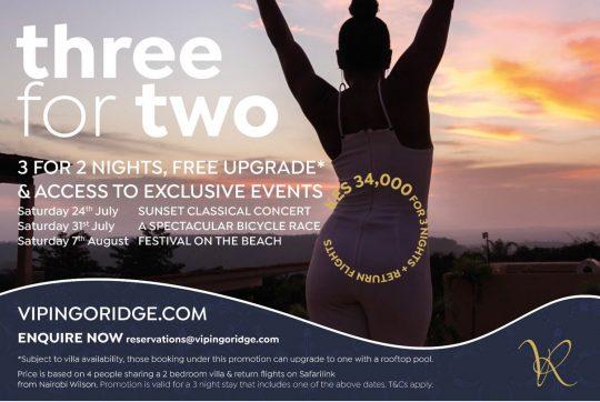 Vipingo Ridge Three For Two Offer