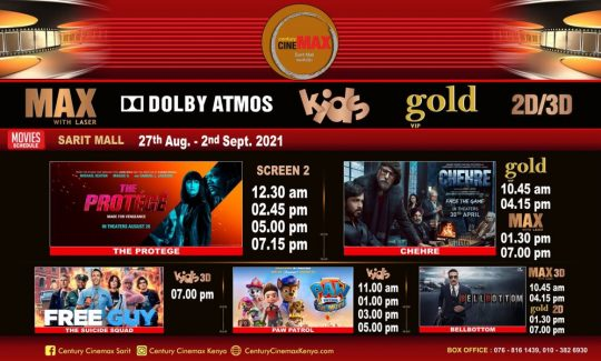 Century Cinemax Sarit Centre Movie Line Up Week 34