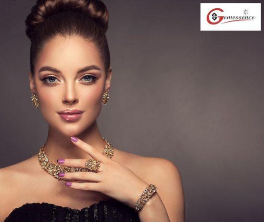 Gold Earrings & Bracelet