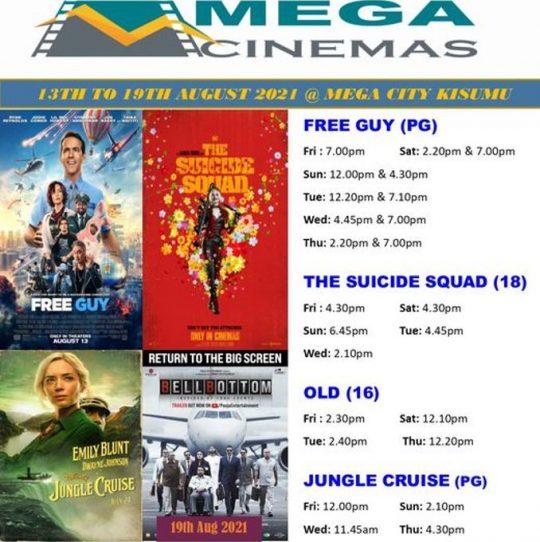 Mega Cinema Kisumu Week 32 Lineup