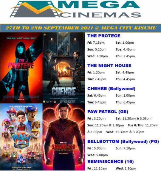Mega Cinema Kisumu Week 34 Lineup
