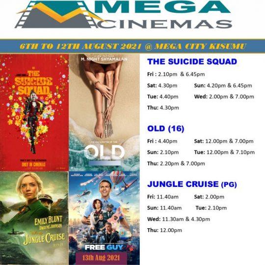 Mega Cinema Kisumu Week 31 Lineup