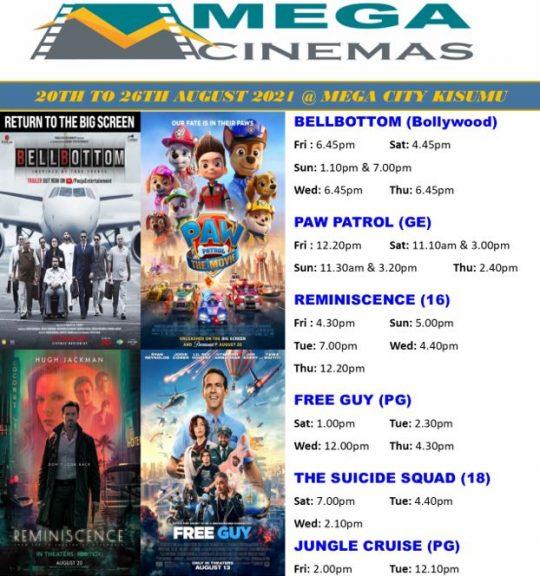 Mega Cinema Kisumu Week 33 Lineup
