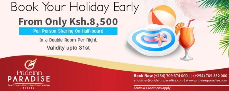 August Kenya Beach Holiday Deals - Prideinn Paradise