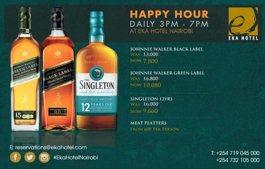 Daily Happy Hour At Eka Hotel Nairobi