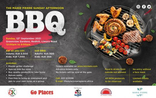 Sunday Afternoon BBQ 12th September - Marie Pierre