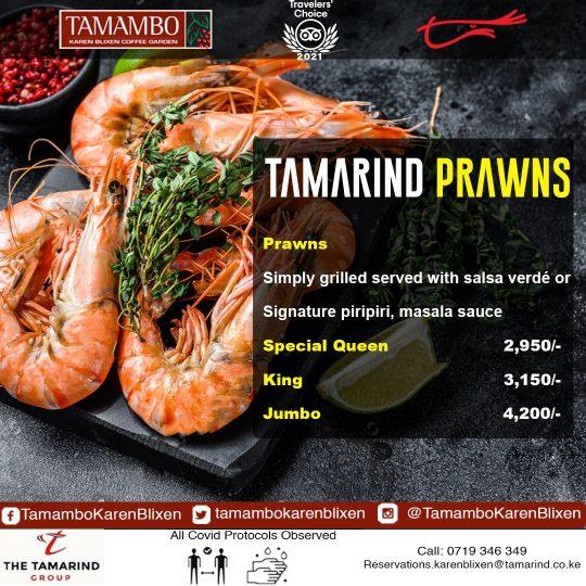 Tamambo Tamarind Prawns