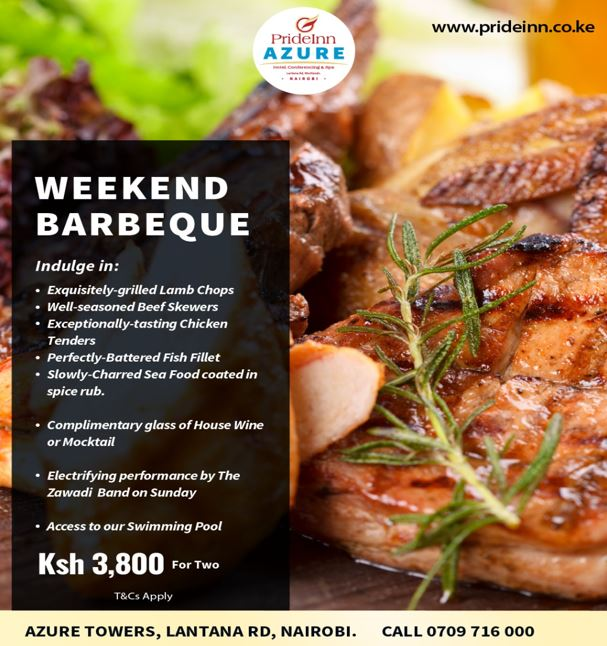 Weekend Barbeque Offers At Prideinn Azure