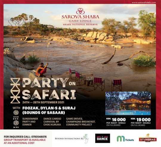 Party On Safari Offer By Sarova Shaba