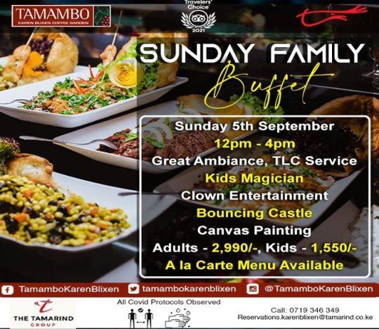 Tamambo Family Sunday Buffet