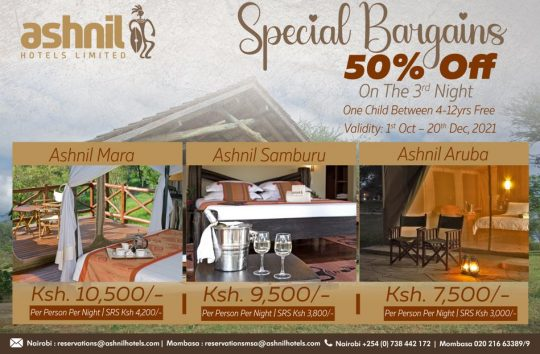 Special Safari Bargains - Ashnil Hotels & Lodges