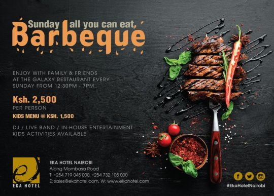 All You Can Eat Sunday Barbeque At Eka Hotel