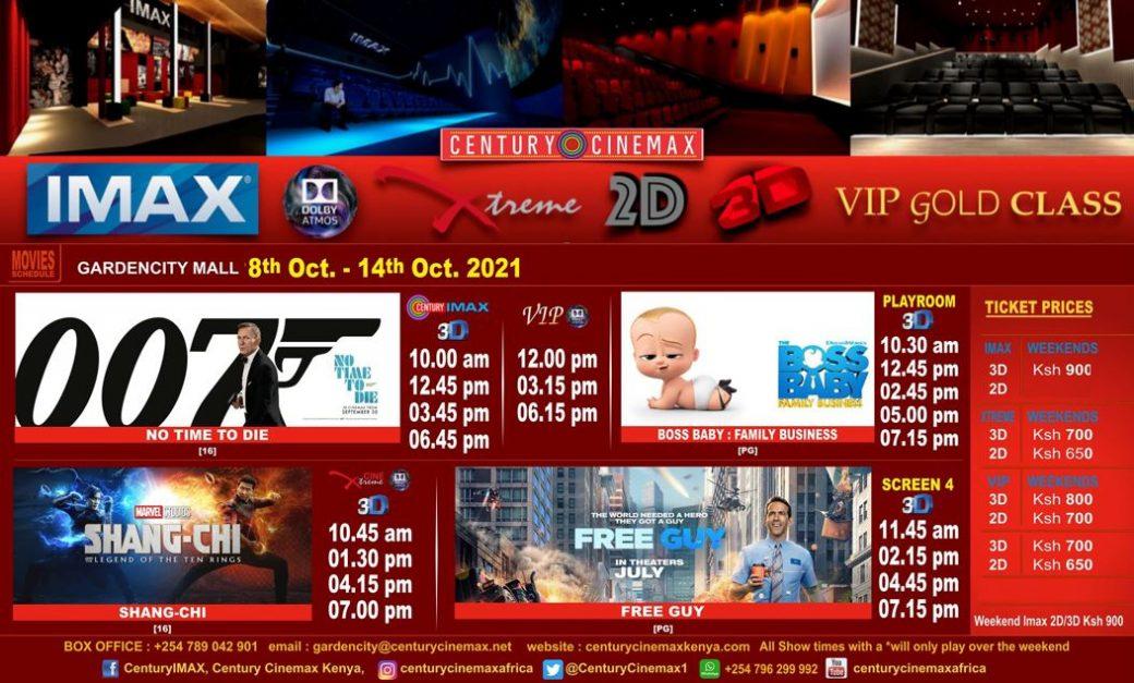 Century Cinemax Garden City Line Up Week 40